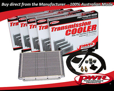 "PWR 4 CYL TRANSMISSION OIL COOLER KIT 280x110x19mm 3/8"" Barbs 12-Rows PWO5386"