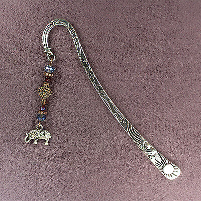 ELEPHANT TOTEM BOOKMARK Charm Wand Talisman Amulet Animal Magick Heart Good Luck