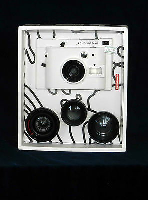 Lomo'Instant Camera White - With 3 Lenses and Gel Filters