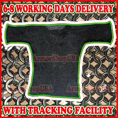 Heavy Chain Mail Shirt Round Riveted with Flat Washer Chainmail Haubergeon sale