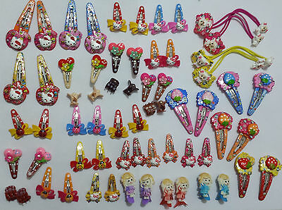 Girl PonyTail Elastic Hair Bands Tie Rope, Claws,  Sleepies, Clips, Hello Kitty