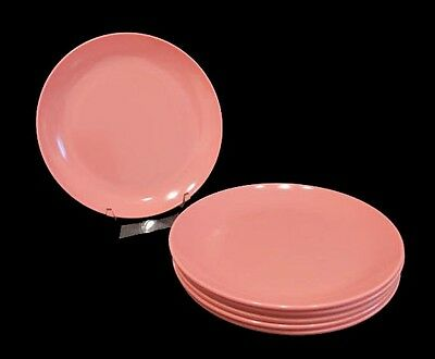 Mid-Century Modern Boontonware Somerset Bread and Butters ~ Six ~ 7105 5 7/8