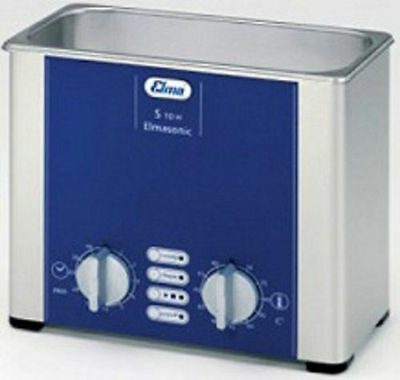Elma Elmasonic S10H 0.8 Liter Heated Ultrasonic Cleaner and Basket, NEW