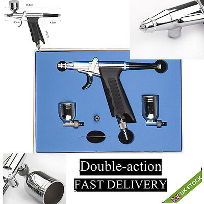 10cc 0.3mm Airbrush Spray Gun Dual Action Paint Art Craft Air Brush Kit Suction