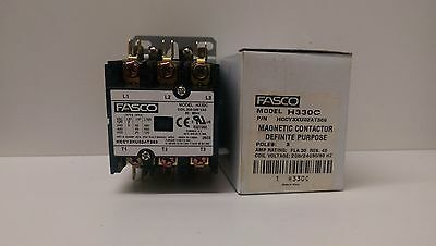 New Old Stock! Fasco 3 Pole Magnetic Contactor H330C Hccy3Xu02At369 35/45A