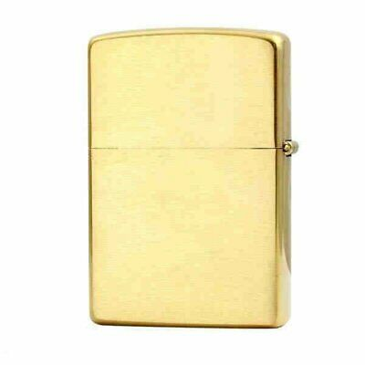 Zippo Solid Brass Engraved, Brushed, Genuine Windproof #204