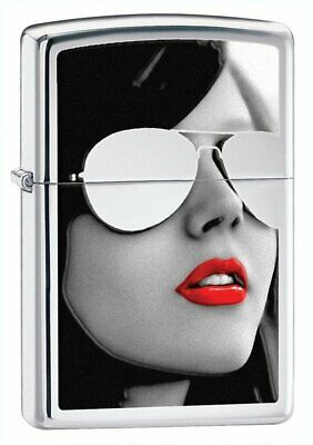 Zippo BS Sunglasses, High Polish Chrome Lighter, Genuine Windproof #28274