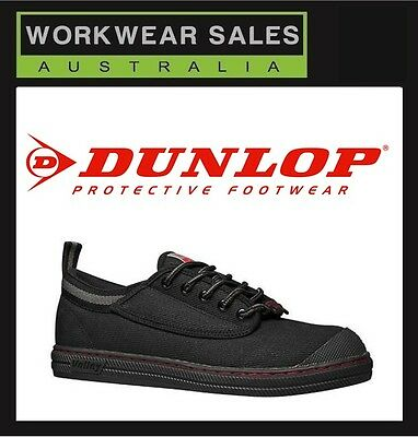 MENS DUNLOP VOLLEY SAFETY STEEL CAP BLACK WHITE Workboots VOLLEYS. UK SIZING.