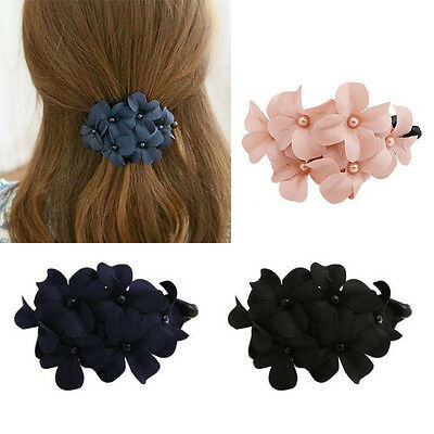 1pcs Fashion Women's Crystal Flower Rhinestone Hair Pins Hairpin Clip Barrette