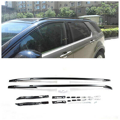 For Land Rover Discovery Sport 2015 2016 Metal Black Top Roof Rack Rails Bars