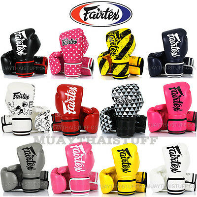 Fairtex Muay Thai Boxing Gloves 14 Microfiber PU MMA Sparring Training Fighting