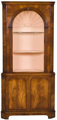 Antique Style Vintage Large Open Top Corner Cabinet Cupboard with Shell Painted