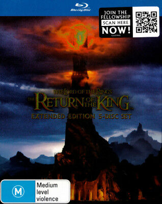 Lord Of The Rings - Return King (Extended Ed.) Blu-ray Region B Brand New!!