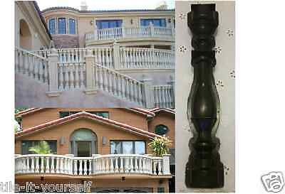 Concrete Paving Mould Garden Balustrade Pillar Post Pedestal Stone Railing Fence