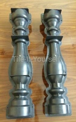 *set Of 2* Concrete Paving Mould Garden Balustrade Pillar Post Pedestal 3