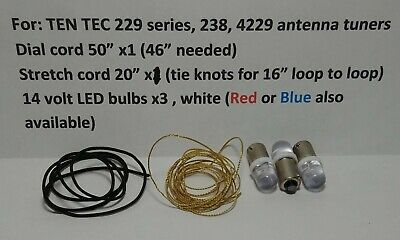 Ten-Tec 229 238 Antenna Tuner bulb lamp, stretch cord, dial cord MUST SEE!