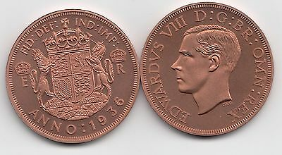 Fantasy Crown Size Coin portrait of Edward VIII & date 1936 Great Britain