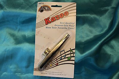 Trophy 1st Note Kazoo,Classic Metal Kazoo,If you can hum, you can play it, FN125