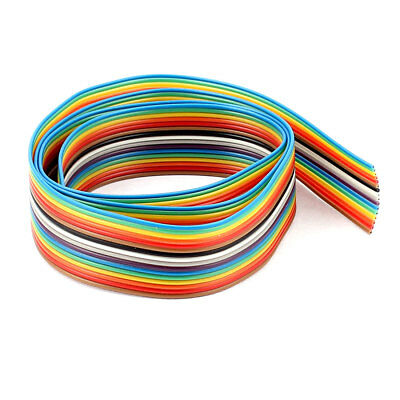 1.27mm Pitch 16 Way Ribbon Breadboard Jumper Cable Wire Rainbow Color 70CM 2.3Ft