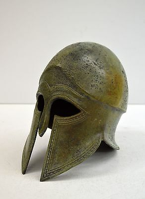 Greek Spartan Corinthian Bronze Small Helmet - Antique Museum Style - Hand Made