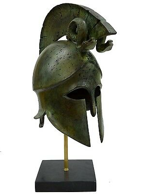 Greek Spartan Corinthian Helmet With Snakes - Antique Style - Bronze Item