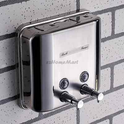 Stainless Steel Bathroom Wall Mount Shower Shampoo Lotion Liquid Soap Dispenser