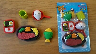 Novelty BBQ barbecue meal Erasers Food  Rubbers Stationary