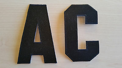 4cfc486c33f BLACK Captain C Alternate A Patch for Jersey Hockey Soccer Lacrosse Football
