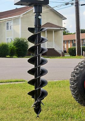 """Bobcat Skid Steer Attachment - Lowe 9"""" Round Post Hole Auger Bit - Ships for $99"""