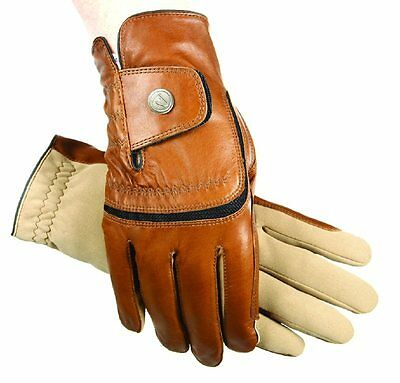 SSG Hybrid Leather / Aquasuede Grippy Riding Gloves Brown, Black or White