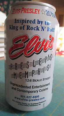 Collectible 1998 Elvis Presley's Memphis 20 Years Anniversary Empty Pepsi Can