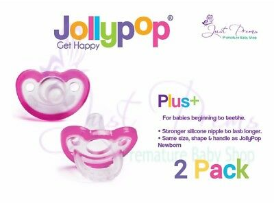 Jollypop Dummy Pacifier Soother ~ the new gumdrop ~3 month plus Pink 2 pack