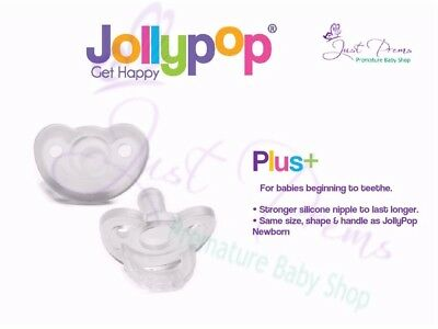 Jollypop ~ The New Gumdrop ~ Dummy Pacifier Soother 3 Month Plus Clear