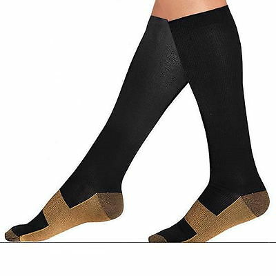 Varicose Vein Stocking Sports Knee High Relief Compression Socks Mens
