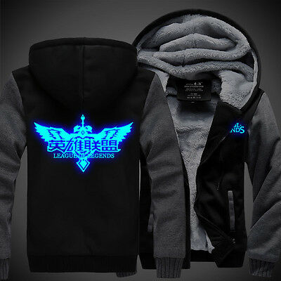 NEW Anime Game League of Legend LOL Luminous Coat Thicken Jacket Sweater Hoodie