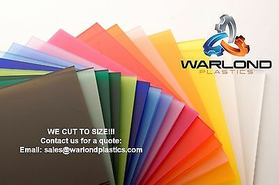 Perspex Acrylic Cut Panels Various Sizes in 3mm Thick sheet
