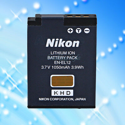 Genuine Original Nikon EN-EL12 Battery Used 3.7V 1050mAh For CoolPix Cameras