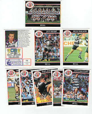 Merlin Rugby League Collection 1991 Full Team Set of 9 Hull Cards freepost