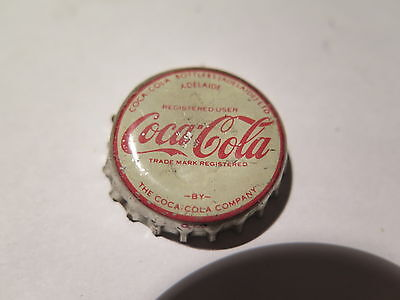 CROWN SEAL BOTTLE CAP COCA COLA ADELAIDE USED c1950s COKE