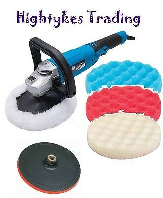 Electric Sander Polisher Car Body Buffer Machine and 150mm Polishing Sanding Kit