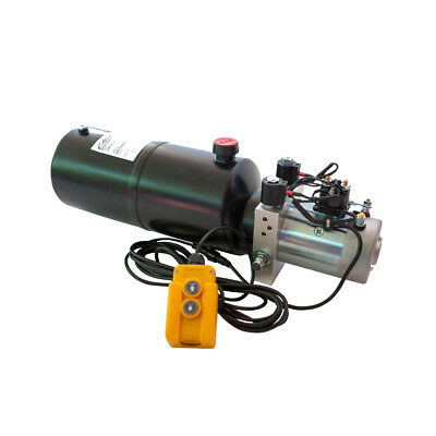 Hydraulic Double Acting Pump 12V DC - 8 Quart Steel Reservoir
