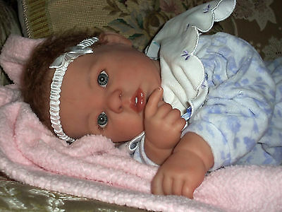 "Custom Reborn OOAK Hand Painted  Berenguer  20"" doll"