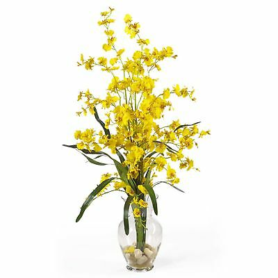 "31"" Dancing Lady Orchid Silk Flower Arrangement -Yellow"