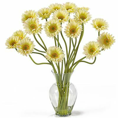 "21"" Gerbera Daisy Silk Flower Arrangement -Cream"