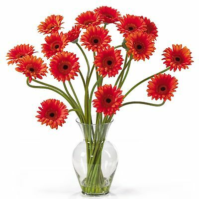 "21"" Gerbera Daisy Silk Flower Arrangement -Orange"