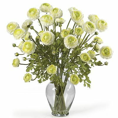 "24"" Ranunculus Silk Flower Arrangement -Cream"