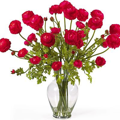 "24"" Ranunculus Silk Flower Arrangement -Red"