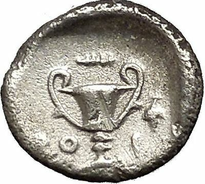 Thebes in BOEOTIA LEAGUE 275BC Shield Kantharos Vase Silver Greek Coin i53336