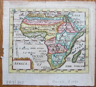 Du Val Handcolored Map Continent Africa - 1690