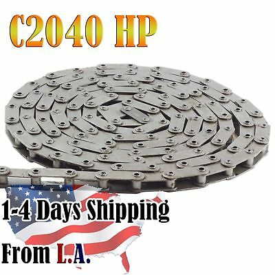 #C2040HP Hollow Pin Conveyor Roller Chain 10 Feet with 1 Connecting Link